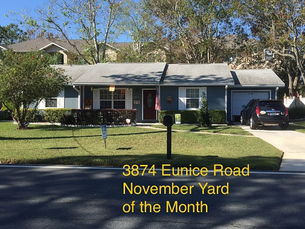 November 2017 Yard of the Month