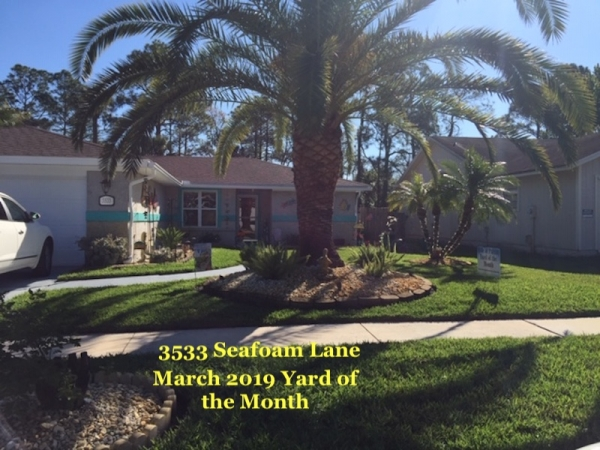 March 2019 Yard of the Month