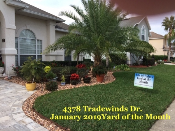 January 2019 Yard of the Month