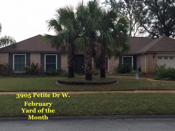 February 2019 Yard of the Month