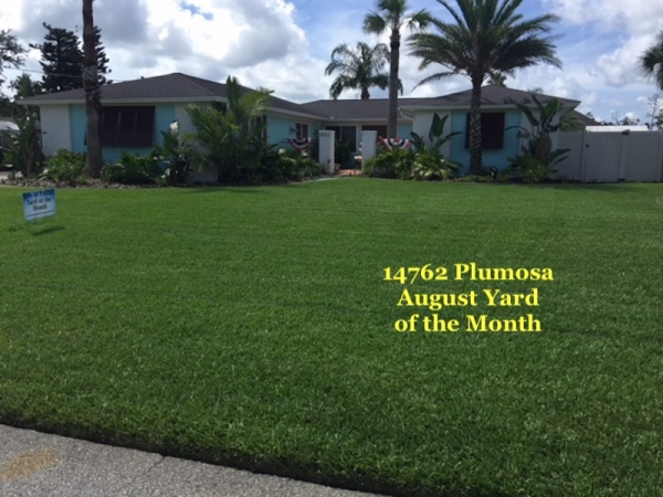 August 2018 Yard of the Month