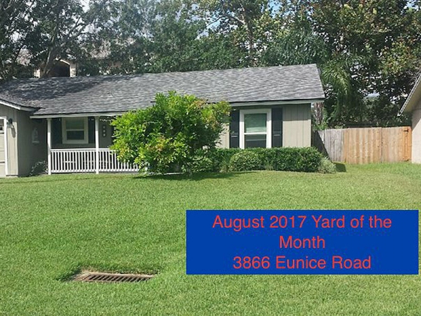 August 2017 Yard of the Month